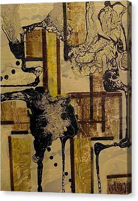 2 Level Painting Canvas Print by Evguenia Men