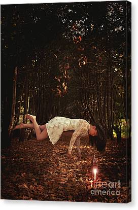 Levitation With Lamp Canvas Print