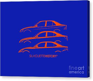 Lexury Silhouettehistory Canvas Print