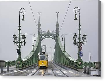 Liberty Bridge Budapest Hungary Canvas Print by Ayhan Altun