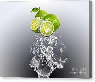 Lime Splash Canvas Print by Marvin Blaine