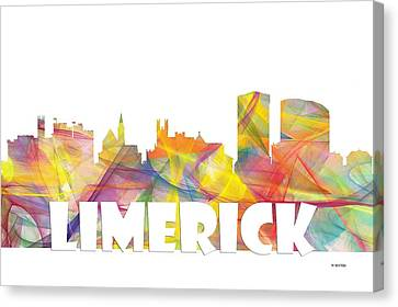 Limerick Ireland Skyline Canvas Print