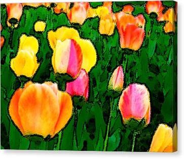 2 Lips Canvas Print by Leonard Rosenfield