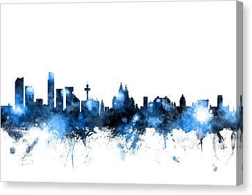Liverpool England Skyline Canvas Print by Michael Tompsett