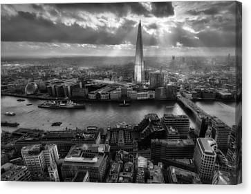 London From The Sky Garden Canvas Print