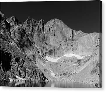Longs Peak Canvas Print by John Mallonee