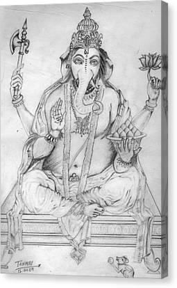 Lord Ganesha Canvas Print by Tanmay Singh