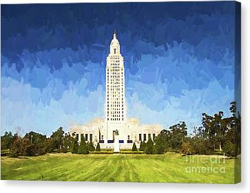 Louisiana State Capital Canvas Print by Scott Pellegrin