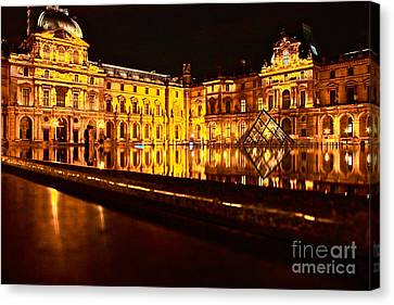 Canvas Print featuring the photograph Louvre Pyramid by Danica Radman