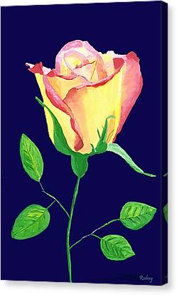 Canvas Print featuring the painting Love In Bloom by Rodney Campbell