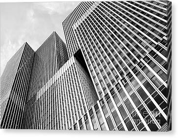 Low Angle View Of A Huge Skyscraper Canvas Print