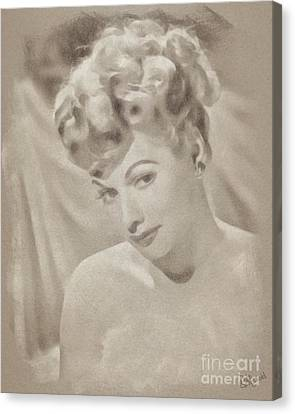 Lucille Ball Vintage Hollywood Actress Canvas Print by John Springfield