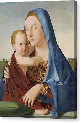 Madonna And Child Canvas Print by Antonello da Messina