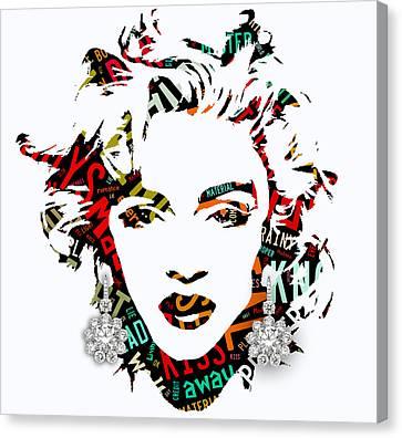 Madonna Material Girl Song Lyrics Canvas Print by Marvin Blaine