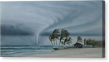 Mahahual Canvas Print by Angel Ortiz