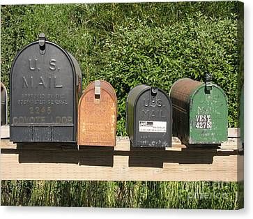 Mail Boxes  Canvas Print by Diane Greco-Lesser