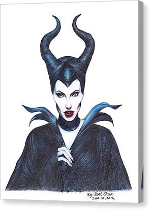 Maleficent  Once Upon A Dream Canvas Print by Kent Chua