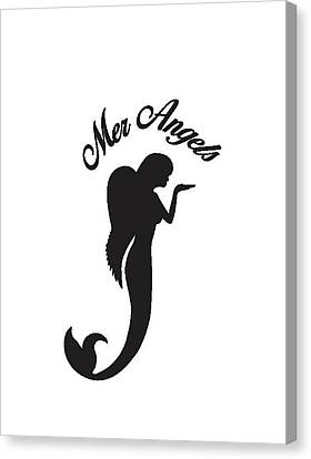 Angel Mermaids Ocean Canvas Print - Malibu Mer Angels by Chrystyna Wolford