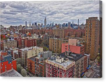 Manhattan Landscape Canvas Print by Joan Reese