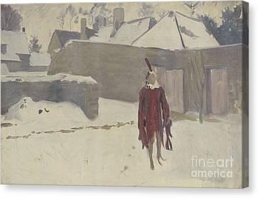 Mannikin In The Snow Canvas Print