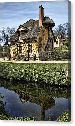Chateau Canvas Print - Marie Antoinette Cottage In Versailles by David Smith