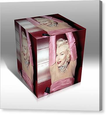 Marilyn Monroe Diamonds Are A Girls Best Friend Canvas Print by Marvin Blaine