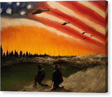 Marines Canvas Print by Josh Burns