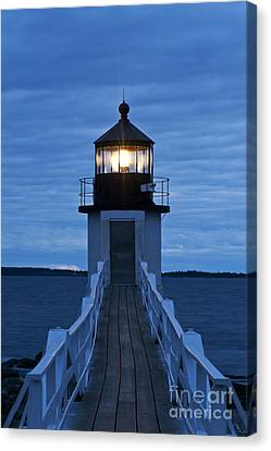 Guides Canvas Print - Marshall Point Light by John Greim