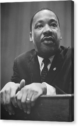Martin Luther King Jr Canvas Print by American School