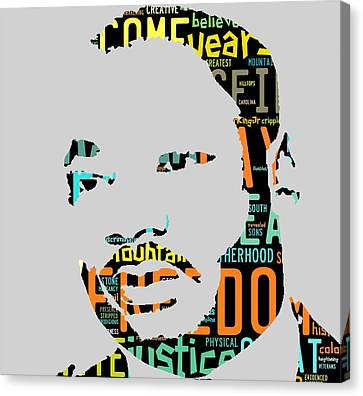 Martin Luther King Jr Canvas Print - Martin Luther King Jr I Have A Dream by Marvin Blaine