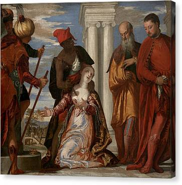 Martyrdom Of Saint Justina Canvas Print by Paolo Veronese