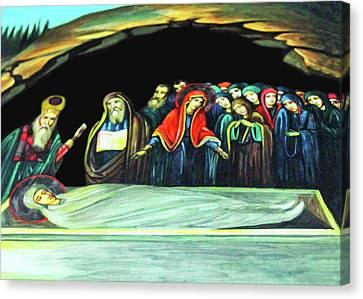 Mary Canvas Print by Munir Alawi