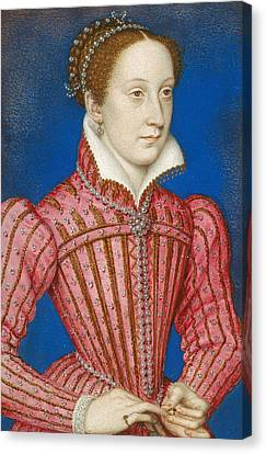 Mary, Queen Of Scots Canvas Print by Francois Clouet