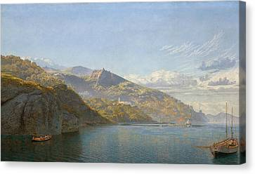 Massa, Bay Of Naples Canvas Print by John Brett