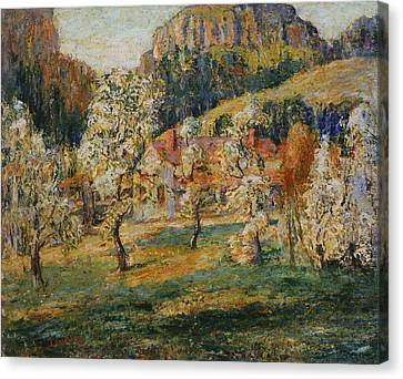 Lawson Canvas Print - May In The Mountains by Ernest Lawson