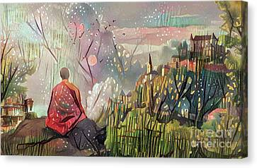 Meditating With Nature Canvas Print