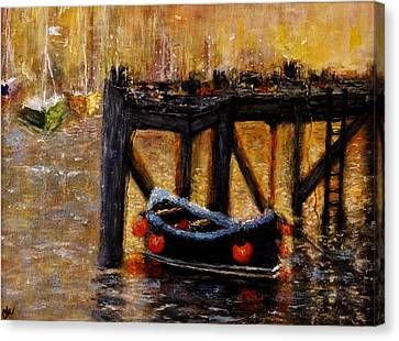 Canvas Print featuring the painting Memories.. by Cristina Mihailescu