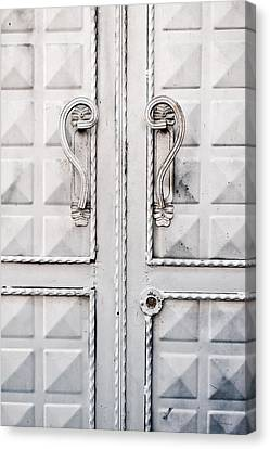 Metal Door Canvas Print by Tom Gowanlock
