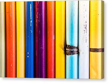 Selection Canvas Print - Metal Poles by Tom Gowanlock