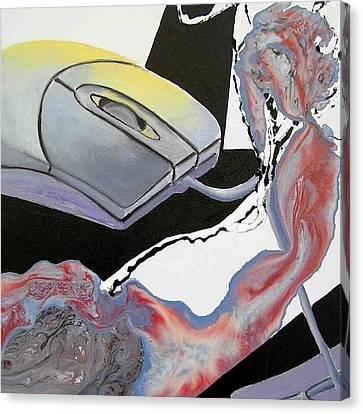 2 Mice Canvas Print by Evguenia Men
