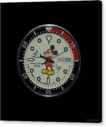 Mickey Mouse Watch Face Canvas Print by Rob Hans