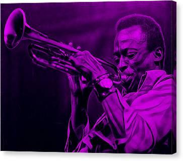 Trumpet Canvas Print - Miles Davis Collection by Marvin Blaine