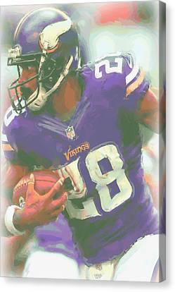Peterson Canvas Print - Minnesota Vikings Adrian Peterson by Joe Hamilton