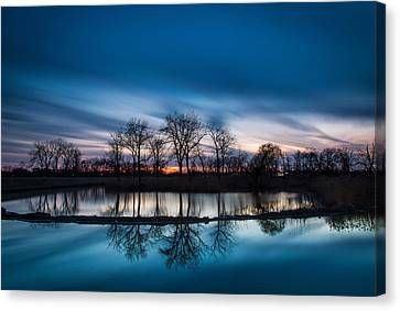 2 Minutes Of Blue Hour Canvas Print