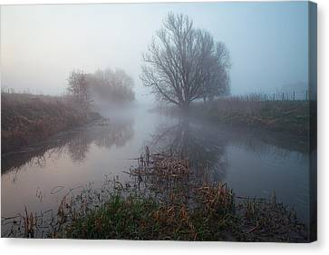 Misty River Nene Canvas Print