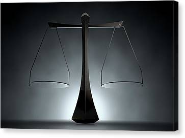 Modern Scales Of Justice Canvas Print