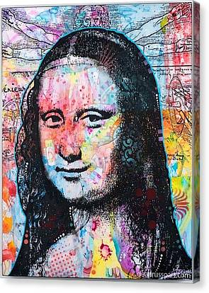 Canvas Print featuring the painting Mona Lisa by Dean Russo