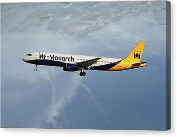 Airlines Canvas Print - Monarch Airlines Airbus A321-231 by Nichola Denny
