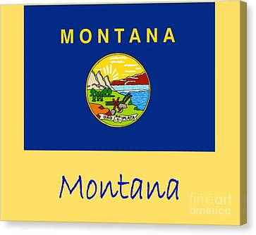 Montana Flag Canvas Print by Frederick Holiday