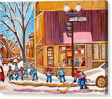 Beauty Mark Canvas Print - Montreal Paintings by Carole Spandau